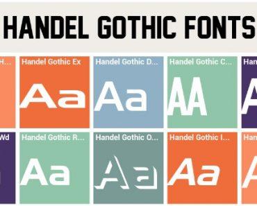 Handel Gothic Font
